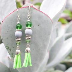 Spring Green Cindy Earrings