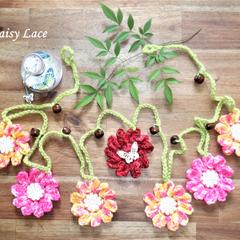 Crocheted Flower Garlands