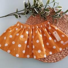 Mustard Polka Dot Skirt Size 6 & 10
