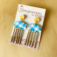 Kas Statement Earrings in Sunshine and Cotton