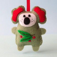 Felt Koala, Christmas Ornament, Christmas Decoration, Australian Animal