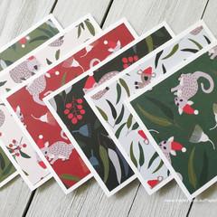 Australiana Christmas Mini Card Set 01