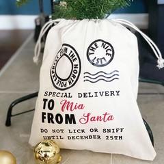 Santa sack personalised, personalised santa sack, pet santa sack