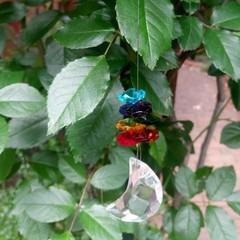 Chakra crystals, moon suncatcher