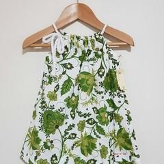 Girls Green Botanicals Pillowcase Dress Size 0 & 3