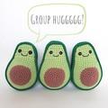 Avocado; crochet half avocado; soft toy; home décor; green