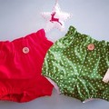 Girls Red High Waisted Bloomers / Britches Size 0, 1,  2 & 3