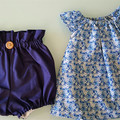 Girls Navy High Waisted Bloomers / BritchesSize 0, 1, 2, 3, 4, 5 & 6