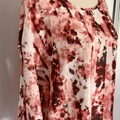 Red  & White casual ladies Top