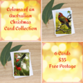 The Colours of an Australian Christmas Collection - 6 Cards - FREE POSTAGE