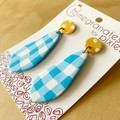 Rana Statement Earrings in Sunshine and Cotton