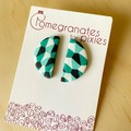 Luna Stud Earrings in Jade Carnival