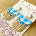 Hera Statement Earrings in Sunshine and Cotton