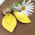 Yellow Leather earrings