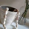 White on White Beaded Necklace