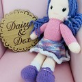 Knitted Doll, Hand Knitted Softie