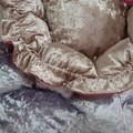 Hand Made Pet Beds Pink & Light Gold