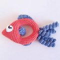 Fish rattle crochet baby toy, newborn gift