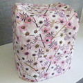 Standard Thermomix Cover - Flowers in pink