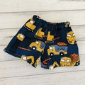 Construction Shorts, Size 000 or 00, Boys Shorts, trucks diggers