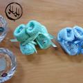 Baby Hand Knit Booties - Baby Booties for Babies - pretty booties Newborn