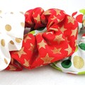 Christmas Scrunchies - traditional colours - 3 pack