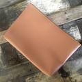 Dbl. Zip Pouch -Black & White Dot/Tan Faux Leather