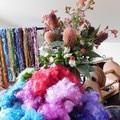 ~*~*  Hand Scoured &  Dyed Australian grown Leicester Fleece for Spinning ~*~*