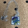 Dried Flower in Resin Necklace PD