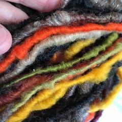 Handspun yarn, superfine merino Aussie wool 75 grams 49 metres
