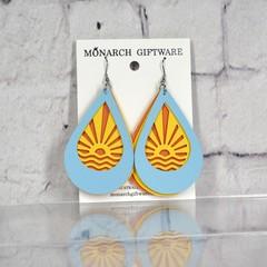 Sunset Vegan Leather Earrings
