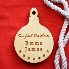 first christmas/marriage christmas/ custom family ornament/customized ornament