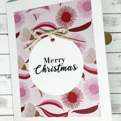 Christmas card, handmade Christmas card, Australian flora Christmas card