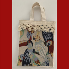 Tropical Birds Tote Bag UNLINED