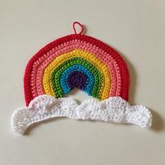 Hand Crochet Rainbow  Room Decoration