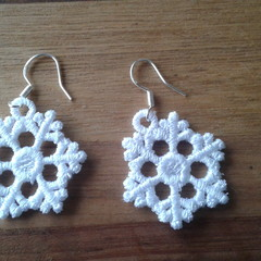 Earrings - Embroidered Freestanding Lace
