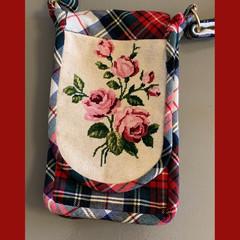 Tartan Cross-body Sling Bag.