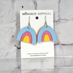 Rainbow Vegan Leather Earrings
