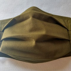 Original Olive facemask: full coverage convertible mask with removable filter