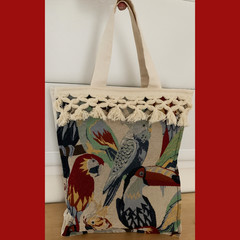 Tropical Birds Tote Bag LINED