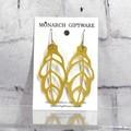 Autumn Leaf Vegan Leather Earrings (gold)