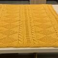 Blanket or Throw - Light mustard yellow