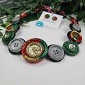 Festive Sparkle - Christmas  - Button Necklace - Button Earrings - Jewellery