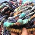 Handspun Merino, Mulberry silk, angora bunny mix