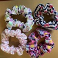 Minnie Mouse hair scrunchies