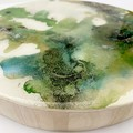 Resin coated artwork and/or trivet