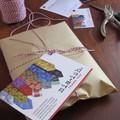 Pink and Black Crossbody Bag, Black Denim Bag, Recycled Denim Messenger Bag