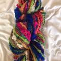 Handspun bulky  merino and Kid mohair, English Leicester wool mix 73 metres