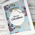 Christmas card, handmade Christmas card, Australian animal Christmas card