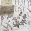 Botanically Printed Textile Pack #6 - Slow Stitch, Art - Plant-Dyed Fabric